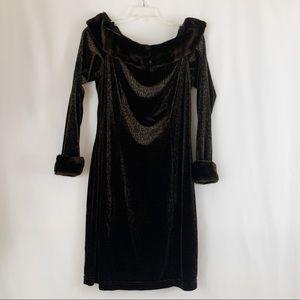 Joseph Ribkoff Velvet Leopard Print Dress